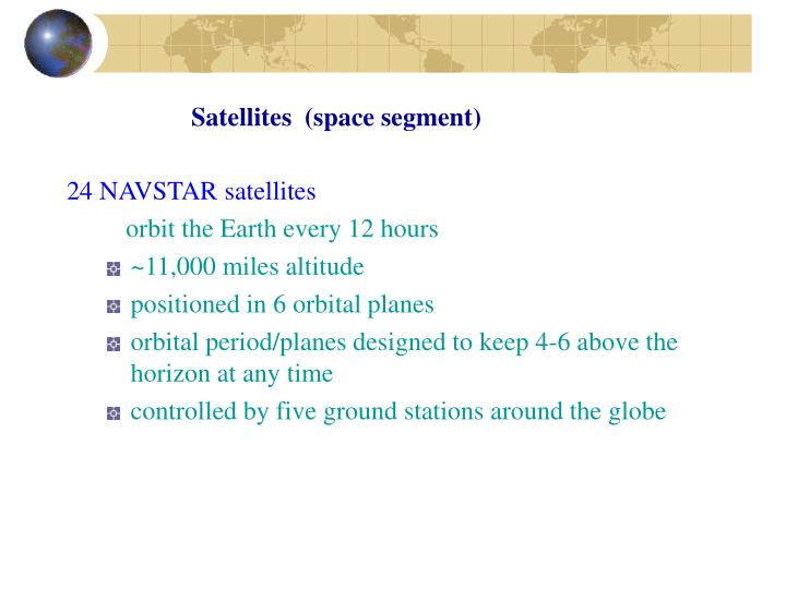 Satellites  (space segment)