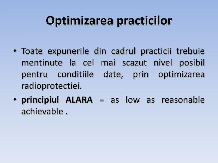 Optimizarea practicilor