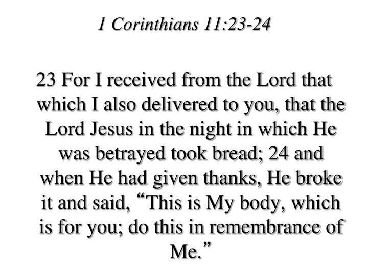 1 Corinthians 11:23-24