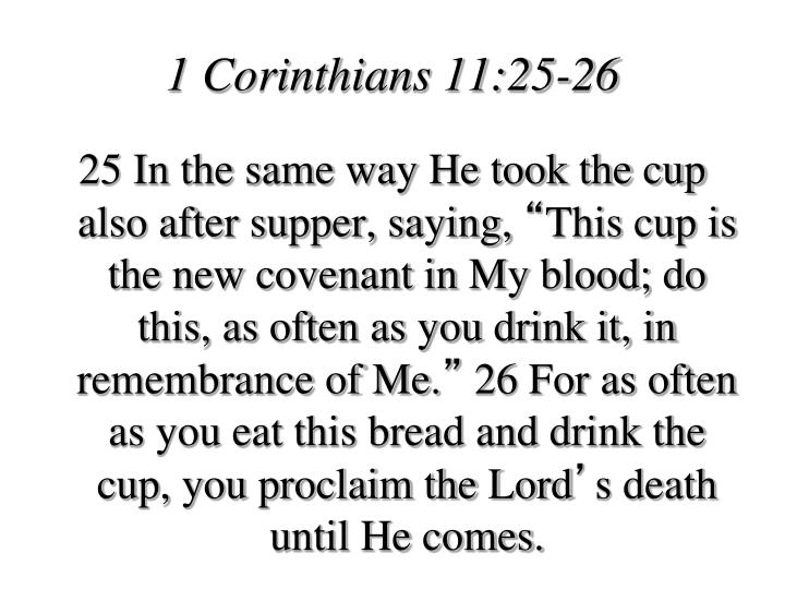 1 Corinthians 11:25-26