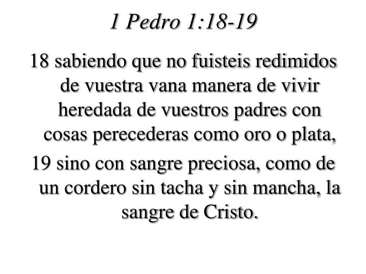 1 Pedro 1:18-19