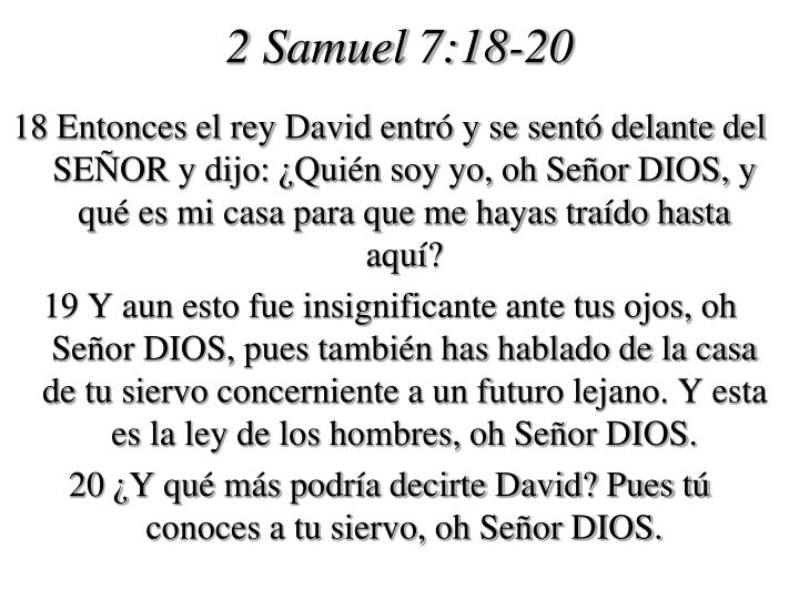 2 Samuel 7:18-20