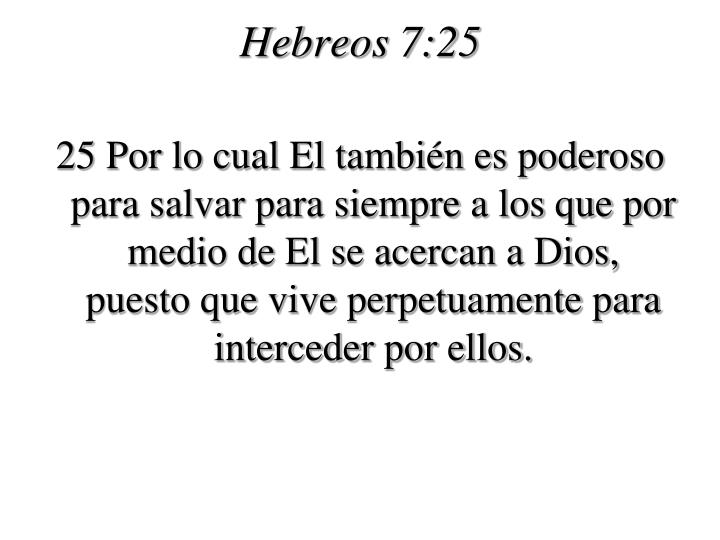 Hebreos 7:25