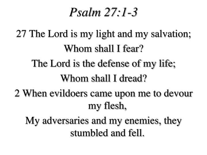 Psalm 27:1-3