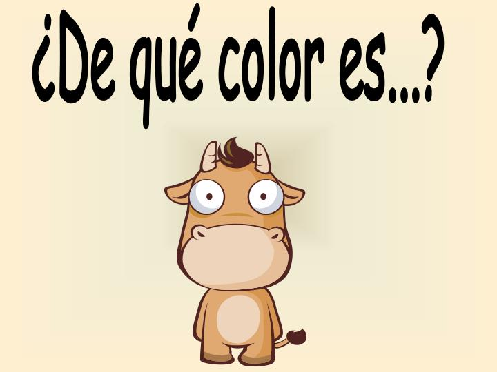 ¿De qué color es...?