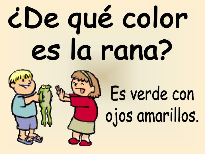 ¿De qué color