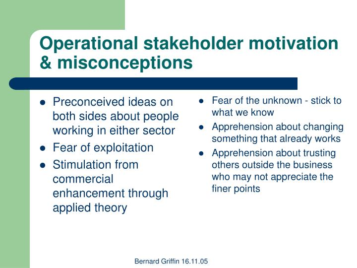 Preconceived ideas on both sides about people working in either sector