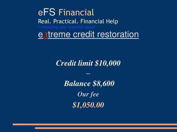 Credit limit $10,000