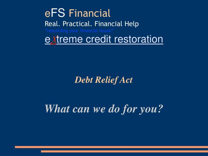 Debt Relief Act