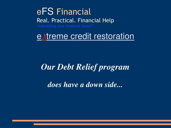 Our Debt Relief program