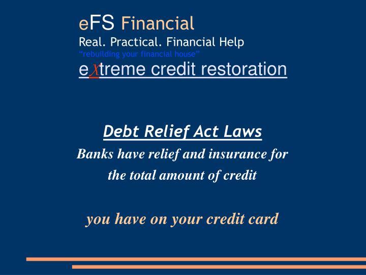 Debt Relief Act Laws