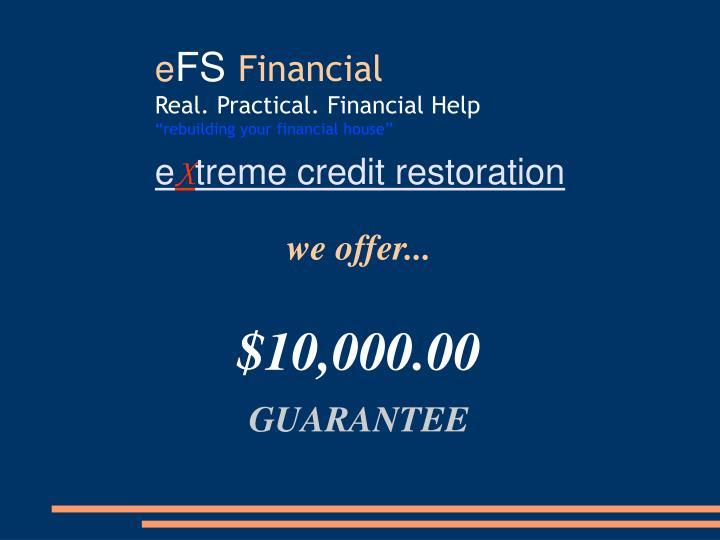 we offer...