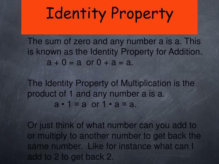 Identity Property