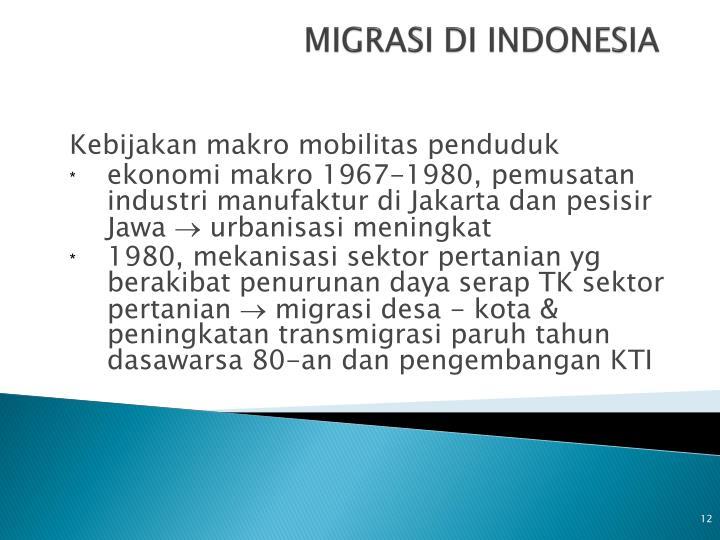 MIGRASI DI INDONESIA