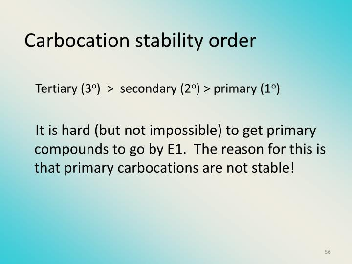 Carbocation stability order