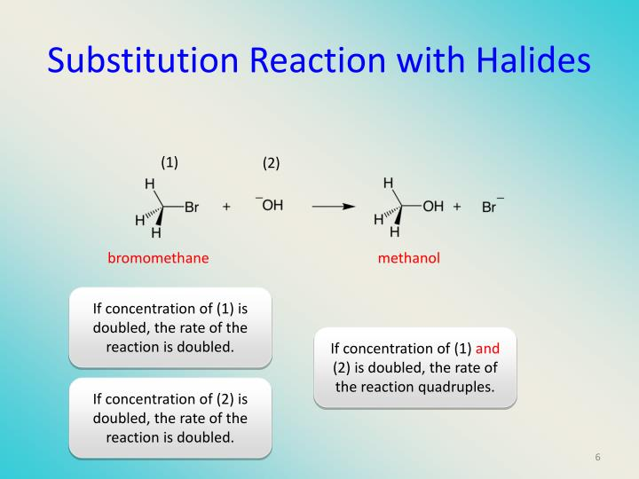 Substitution Reaction with Halides