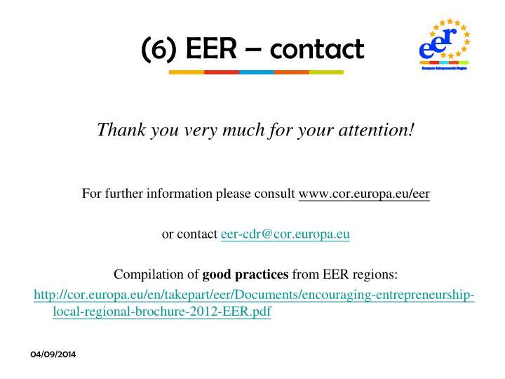 (6) EER – contact