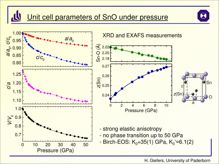 XRD and EXAFS measurements