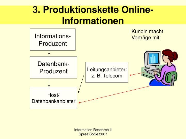 3. Produktionskette Online-Informationen