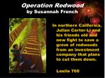 operation redwood by susannah french