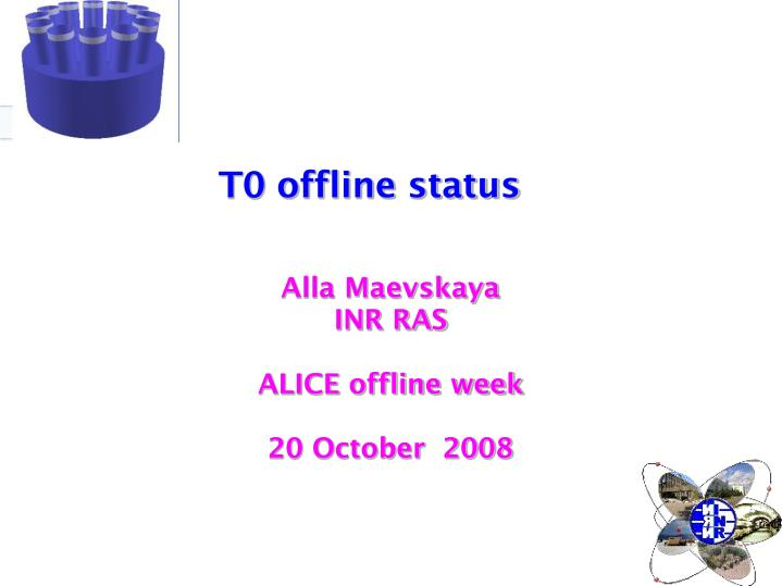 Alla maevskaya inr ras alice offline week 20 october 2008