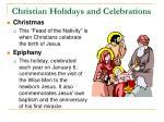 christian holidays and celebrations