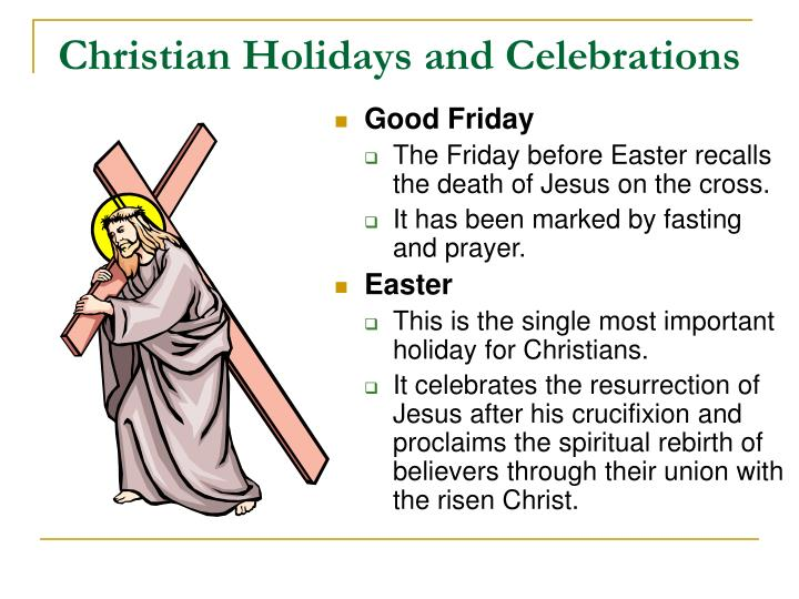 Christian Holidays and Celebrations