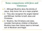 some comparisons with jews and christians