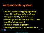 authenticode system