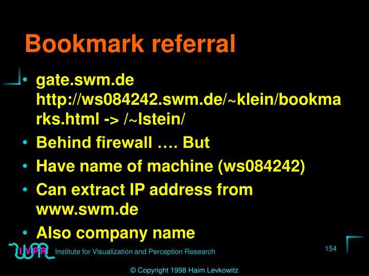 Bookmark referral