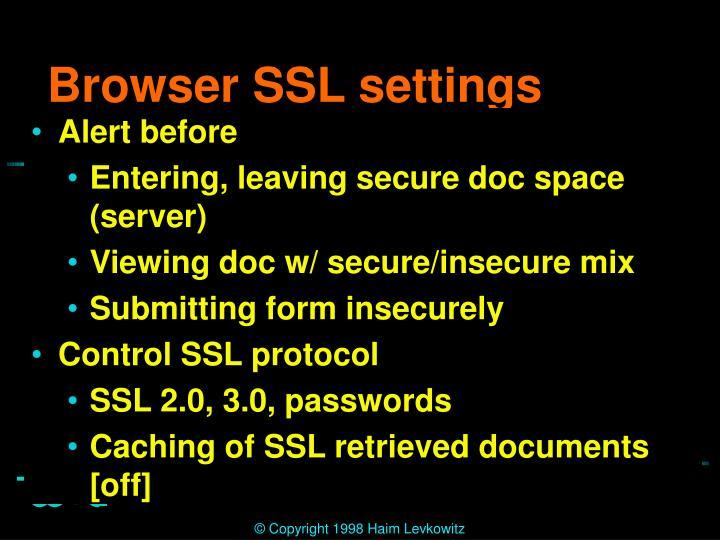 Browser SSL settings