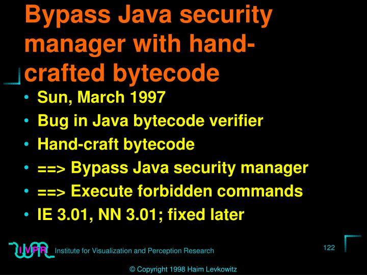 Bypass Java security manager with hand-crafted bytecode