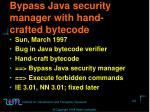 bypass java security manager with hand crafted bytecode