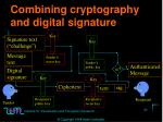 combining cryptography and digital signature