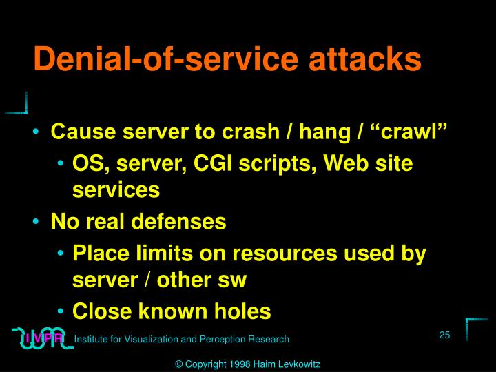 Denial-of-service attacks