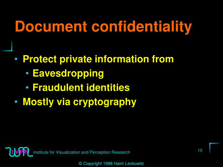 Document confidentiality