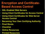 encryption and certificate based access control