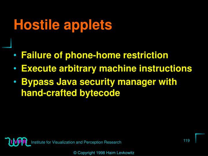 Hostile applets