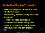 is activex safe cont