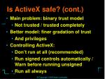 is activex safe cont1