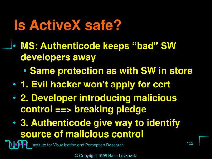 Is ActiveX safe?