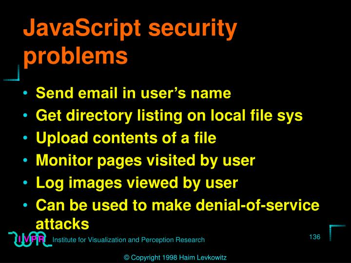 JavaScript security problems