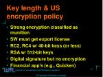 key length us encryption policy