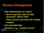 privacy infringement