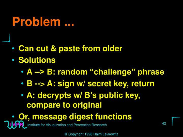 Problem ...