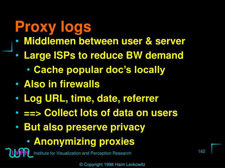 Proxy logs