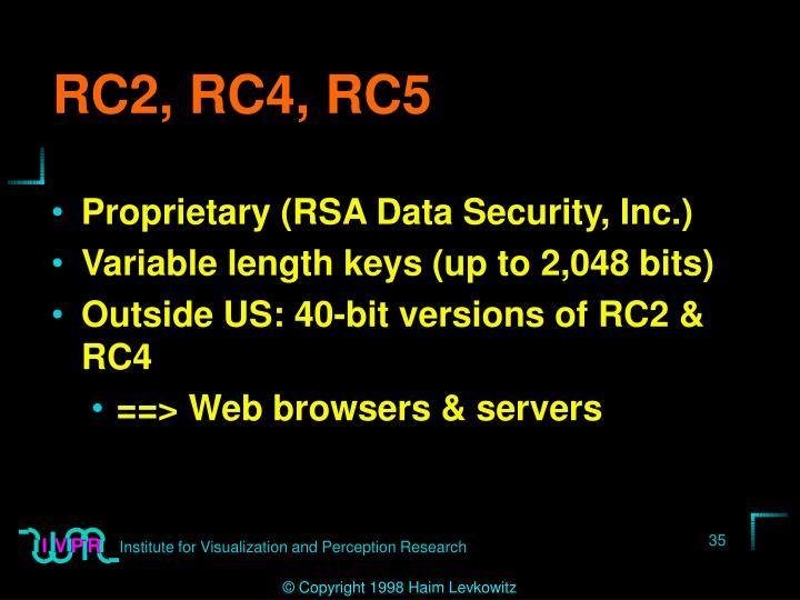 RC2, RC4, RC5