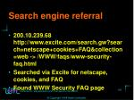 search engine referral