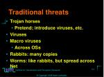 traditional threats