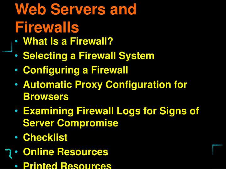 Web Servers and Firewalls